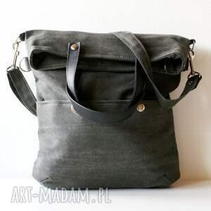 3w1 popiel czerń, płótno, skóra, torebka, torba torebki