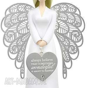 Anioł szczęścia i wiary 15,5 cm, kimmidoll, dekoracje, anioły, figurki, chrzest