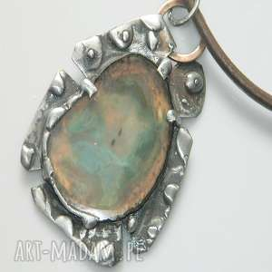 zielony agat, miedziany, unikalny-wisior, unikalna-biżuteria, unikatowa-biżuteria