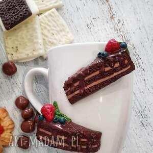 kubek ciasto czekoladowe, ceramika, czekolada, biały