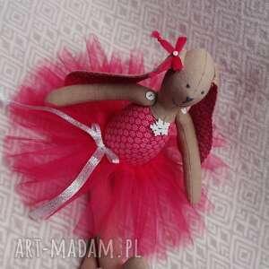 rubinowa baletnica, tutu, chrzest, roczek, maskotka, przytulanka dla