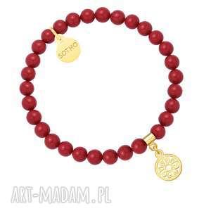 sotho czerwona bransoletka z pereł swarovski® crystal ze - nowa kolekcja