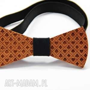 Muszka drewniana krawaty the bow ties karty, gra