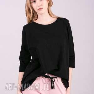 Bluzka Damska dresowa ANNA-Czarna, bluzki, sukienki, kurtki, bluzy, spodnie, t-shirty