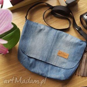 handmade torebki listonoszka jasny denim