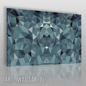 obrazy obraz na płótnie - kryształ błękit 120x80 cm 50101, kryształ, geometryczny