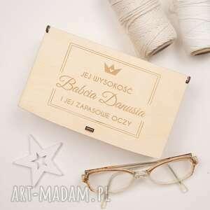 etui etui, drewniane pudełko na okulary, drewno, grawer