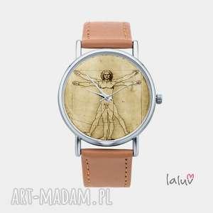 Zegarek z grafiką VINCI - ,człowiek,witruwiański,prezent,harmonia,doskonały,obraz,
