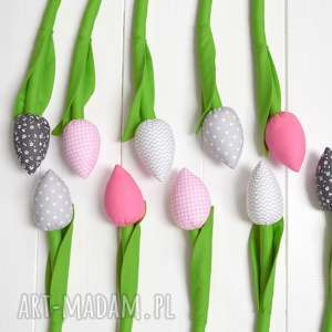 Prezent Tulipany, tulipany, tulipany-z-materiału, tulipan, bukiet, prezent