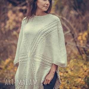 alpacowe ponczo swetromania - ręcznie, ekskluzywne, unikalne, sweter
