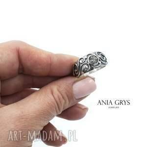 kwarc z rutylem - pierścień mocy, rutylowy, pierścionek, srebrny