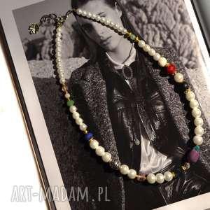 Eleganckie perłowe korale Vivien, korale, perły, eleganckie, glamour, naszyjnik