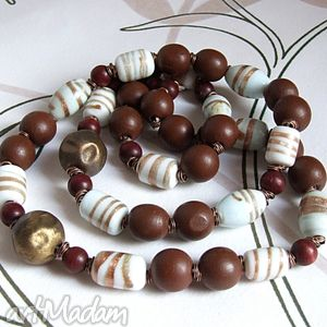 handmade korale czekoladowe