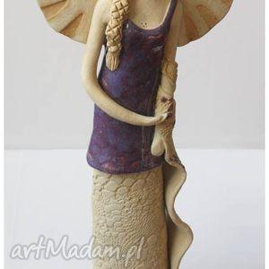 dama z szalem ii, anioł, ceramika dom, święta prezent