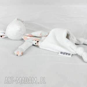 Luluś królik - dla niemowląt dziecka nuvaart przytulanka, minky