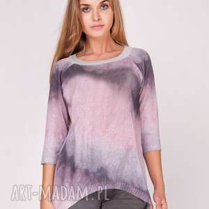 dla dziecka sweterek cieniowany primrose pink, dzianina, print, nadruk, bluzka