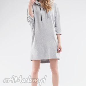 sukienka bluza z kapturem, bluza, kaptur, sukienka, tunika, dresowa