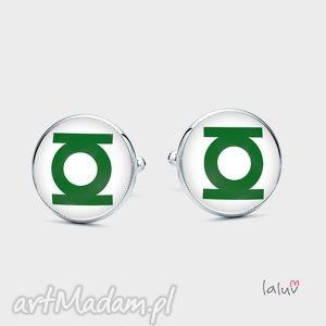 spinki do mankietów zielona latarnia - komiks, film, superbohater, dc