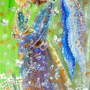 dziecięca modlitwa - anioł, anioły, aniołek, dziecko, modlitwa, 4mara