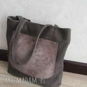 miejska nubukowa torba, miejskatorba, torebkanacodzień, shopperbag