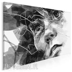 obraz na płótnie - twarz kobieta czarno-biały 120x80 cm 75501, portret