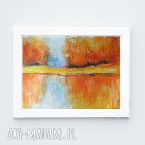 jesień-akwarela formatu 18/24 cm, akwarela, papier, jesień