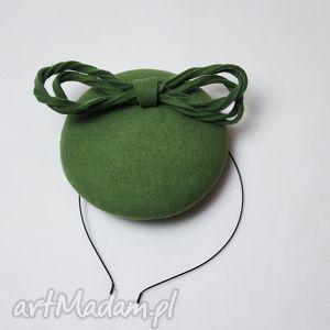 prezent na święta, filemonka groszkowa, zielony, groszkowy, filc, toczek