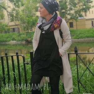 czapka wiosenna patchworkowa damska - box 33- na podszewce, świetna na codzienne