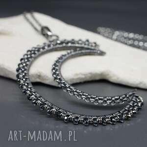 szafirowy spinel wisior hareth, srebrny wisior, naszyjnik ze srebra
