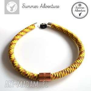 naszyjnik summer adventure - model orange snake - nowoczesny, wężowy, designerski