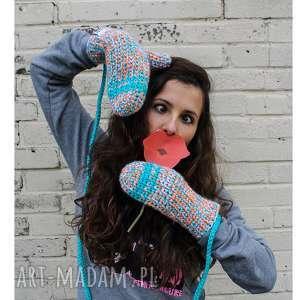 rękawiczki mode 8 - braininside, handmade, rękawiczki, dwupalczaste, zima