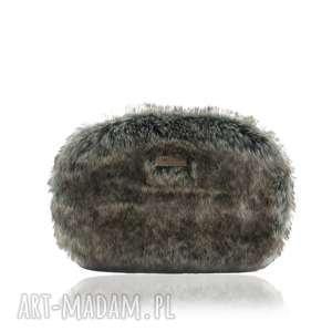 TASZKA OVUM TOUCH 1402, torebka, futrzana, szara, włos, polskamarka