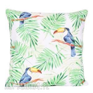 Poduszka frosty green toucan 40x40cm od majunto poduszki tukany