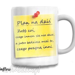 kubek motywujący - plan dnia, kubek, motto, prezent, plan