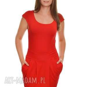 sukienka elgancka i stylowa z kieszeniami m, sukienka, damska, wiskoza, czerwona