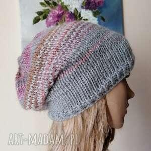 ręczne wykonanie czapki pastele czapka