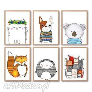 zestaw 6 prac a4 - plakat, ilustracja, obrazek, zwierzęta, dziecko