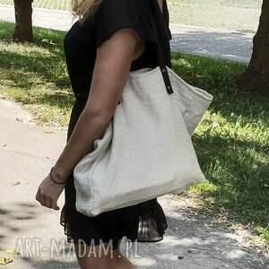 Torba konopna Slow, torba-ekologiczna, torba-na-ramie, torba-na-plaże, torba-na-lato