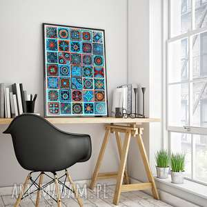 Mozaika a3 malgorzata domanska mozaika, grafika, plakat