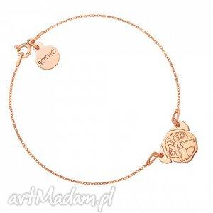 bransoletka z różowego złota z mopsem - złote bransoletki