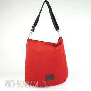 hobo xxl kolor gładka czerwień, torebka na ramię, pasku, produkt