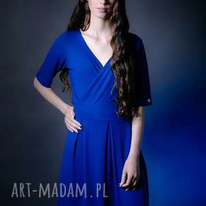 fd7ce0e8f0c43b sukienka kopertowa - czujĘ siĘ Świetnie kobalt, sukienka, narzutka, bluza,  spodnie