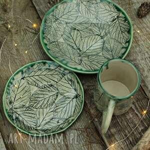 Leśna jeżyna ceramika enio art zestaw naczyń, kubek, kubeczek