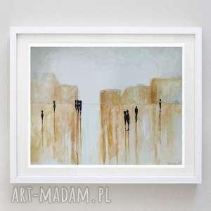 abstrakcja-akwarela formatu 18/24 cm, akwarela, kredki, papier, ludzie