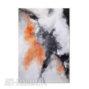 Copper cloud, abstrakcja, nowoczesny obraz ręcznie malowany, obraz, ręcznie, malowany