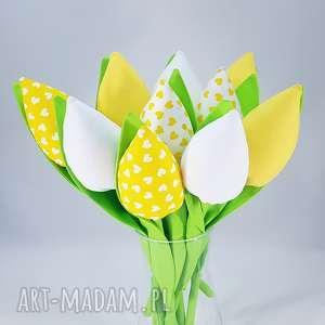 Prezent Tulipany- bukiet z 10 sztuk, bukiet, tulipany, tulipany-z-materiału, ozdoba