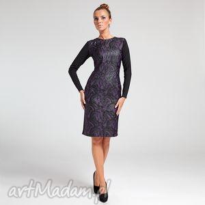 sabina - sukienka 36, moda, wełna, wiskoza, jesień, zima, praca ubrania