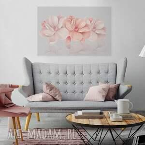 obraz na płótnie - kwiaty rÓŻowy 3d - 120x80 cm 58201 - kwiaty, kwiat