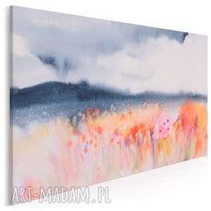 Obraz na płótnie - pole kwiaty abstrakcja 120x80 cm 79001 vaku