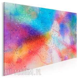 obraz na płótnie - kolory abstrakcyjny 120x80 cm (84401)